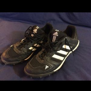Adidas Black and White Cleats Size 13M